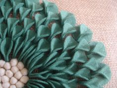 Felt Dahlia Pillow - Addicted2Decorating.com