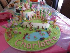 Fairy Garden Birthday Cake Created By My Mom For Daughter On Her 6th