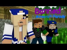"""♫ """"Banned"""" ♫ - Minecraft Animated Music Parody of Miley Cyrus's """"Wrecking Ball"""""""