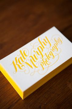 Letterpress Business Cards by jessica hische