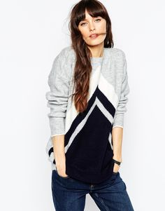 ASOS – Pullover mit Chevron-Muster