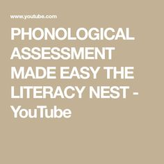 This short video explains how to administer my phonological awareness assessment. The data you receive will help you decide which phonological awareness acti. Phonological Awareness Activities, Letter Identification, Preschool Special Education, Reading Fluency, Task Boxes, School Psychology, Social Skills, Life Skills, Assessment