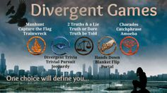 Divergent teen library program ideas | Purple Polka #partygames #divergent #summerreading