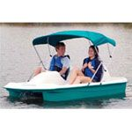 Create your own boat powered energy with your feet, always a fun time!