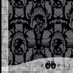 Gates of Pohjola Jersey, Black & Gray by Paapii Design Buy Fabric, Fabric Material, Printing On Fabric, Dark Grey, Black And Grey, Art Gallery Fabrics, Floral Fabric, Cotton Spandex, Organic Cotton
