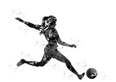 Woman soccer player by Erzebet S Football Ads, Football Quotes, Football Girls, Girls Soccer, Soccer Quotes, Football Players, Tattoo Futbol, Soccer Tattoos, Soccer Room