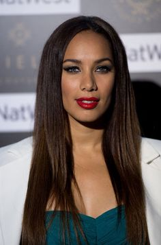Leona Lewis. I love looks like this. It's elegant without being too done up, and pretty but simple.