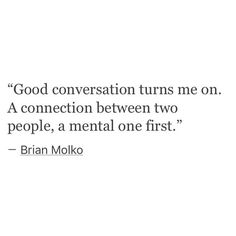 a mental connection is the best.