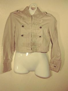 713471ea5e37eb M.K.M DESIGNS women s jacket size S color beige long sleeve  fashion   clothing  shoes  accessories  womensclothing  coatsjacketsvests (ebay link)