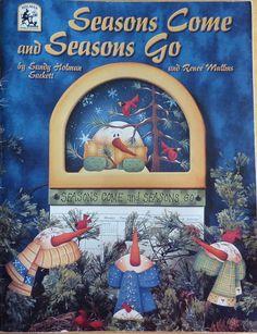 Temporadas van y vienen temporadas por Sandy Holman Sackett & Renee Mullins - libro de pintura de Tole de vintagememory en Etsy