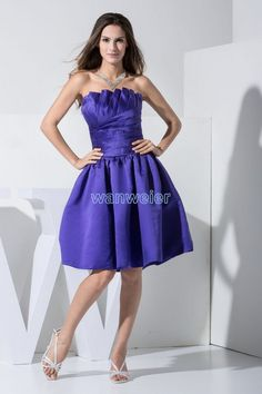 cocktail dresses quinceanera dresses formal dresses for teens beautiful sheath strapless knee-length satin purple cocktail dress with shirring