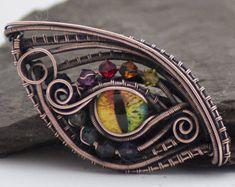 Rainbow Dragon Eye - Dragons Eye Pendant, Eye Necklace, Rainbow Goth, Gift For Her, Unique Birthday Gifts, Pride Jewellery, Festival Jewelry