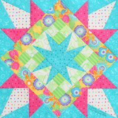 Lucky Stars (scrappy version) ... Quiltmaker Magazine 100 Blocks Spring '13.