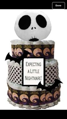 nightmare before christmas diaper cake im in love october baby showers