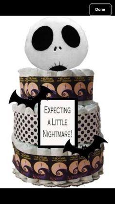 Nightmare before Christmas diaper cake ! I'm in love :)