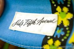 Saks 5th Avenue Vintage Label