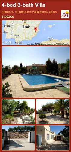 4-bed 3-bath Villa in Albatera, Alicante (Costa Blanca), Spain ►€199,000 #PropertyForSaleInSpain