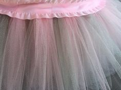Pink and Grey Elephant Themed Tutu Basket Birthday Tutu Gift