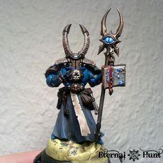 Champion, Chaos, Conversion, Sorcerer, Thousand Sons, Tzeentch, Warhammer 40,000, Work In Progress