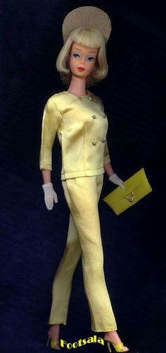 Japanese Edition Satin Suit in Summery Yellow from the collection of Gene Foote.
