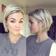 100 Mind-Blowing Short Hairstyles for Fine Hair Blonde Chin-Length Bob More – F Haircuts For Fine Hair, Short Bob Hairstyles, Hairstyles Haircuts, Pixie Haircuts, Medium Hairstyles, Latest Hairstyles, Natural Hairstyles, Haircut Short, Choppy Bob Hairstyles For Fine Hair