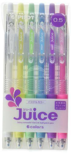Pilot Juice Gel Ink Pen-0.5 mm-6color Pastel colors: Amazon.co.uk: Office Products