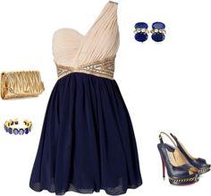"""""""gold blue"""" by yiannab on Polyvore"""