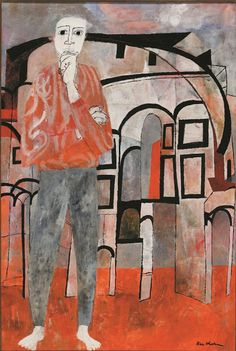"amare-habeo: "" Ben Shahn (Lithuanian/American, Byzantine Isometric, 1951 Tempera on canvas mounted on masonite "" Walker Evans, Museum Of Fine Arts, Museum Of Modern Art, Pictures Of America, Ben Shahn, Figurative Kunst, San Francisco Museums, Canadian Art, Jewish Art"