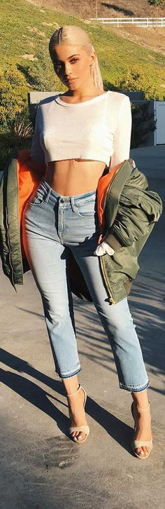 Kylie Jenner in Good American jeans #goodsquad fashion