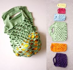 How to DIY Grocery Bags from Old T-shirts