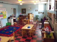 Classroom for child care preschool
