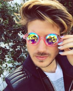 """""""Eden has gone rosy tonight"""" the pink Dragonfly glasses are almost sold out! Link in BIO!"""