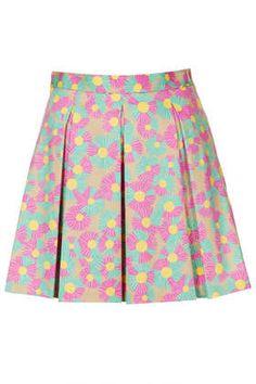 Daisy Invert Pleat Skirt