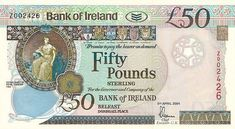 irland money | Irish banknote Bank of Ireland, £50 2004