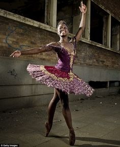Inspiration: Michaela DePrince, who lost her parents at the age of three, said that her obsession with dance originated from a photograph of...