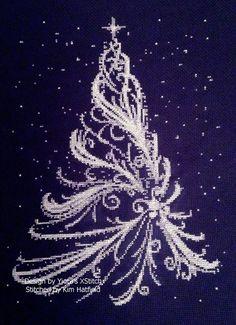 """Милые сердцу штучки: Новогодняя вышивка: """"Елки"""" (подборка)"""