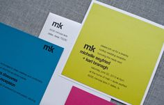 Bold Bright and Modern Wedding Invitation Suite by LamaWorks