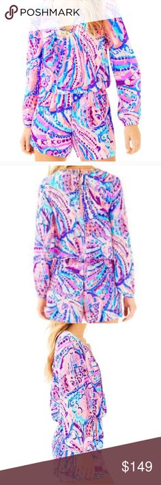 213468c58d6 NWT Lilly Pulitzer Colby romper shells NWT Lilly Pulitzer Pants Jumpsuits    Rompers Silk Romper