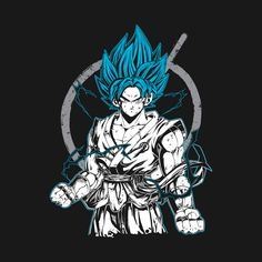 Check out this awesome 'Super+Saiyan+Goku+-+TP00528' design on @TeePublic!