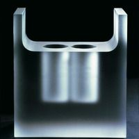 Vase 1992. Cut glass. 22x10x24 cm