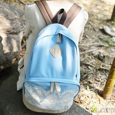 Fresh Simple Cute Lace Canvas Backpacks|Fashion Backpacks - Fashion Bags|ByGoods.com