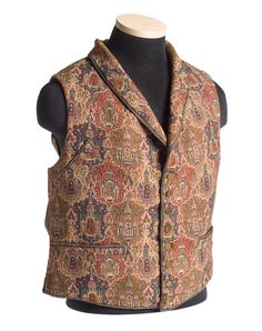 "Woven ""paisley"" vest, c. 1840. Charleston Museum"