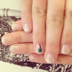 Glitter French Mani, LA style.