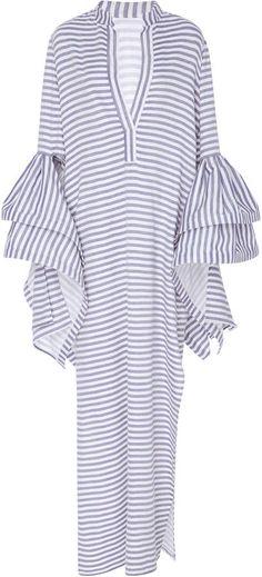 Leal Daccarett Mia Ruffled Sleeve Dress