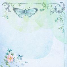 Motyl, Vintage, Kolaż, Niebo, Nowoczesne, Motyle