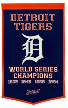 4bd5693e6c2 MLB Detroit Tigers World Series Championship Banner Mlb World Series