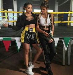 "Antonia Iacobescu to the right and her oponent in the video ""Dream About My Face"" to the left. Dream About Me, My Ride Or Die, Kickboxing, Punk, Female, Fitness, Dragons, Goals, Amazing"