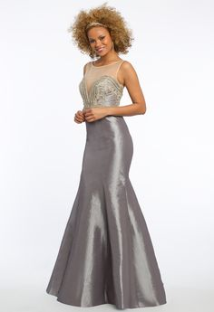 Mikado Prom Dress with Trumpet Skirt #camillelavie #CLVprom