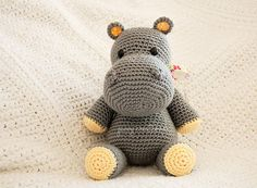 Etsy-Amigurumi Hippo  Made to Order by zavvycreations on Etsy