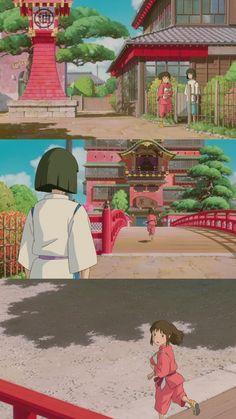 Studio Ghibli Art, Studio Ghibli Movies, Studio Ghibli Characters, Chihiro Y Haku, Anime Songs, Artsy Photos, Spirited Away, Howls Moving Castle, Anime Love Couple